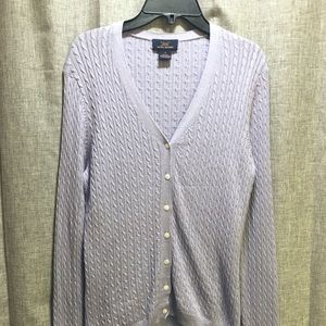"""Brooks Brothers cable knit """"346"""" cardigan"""